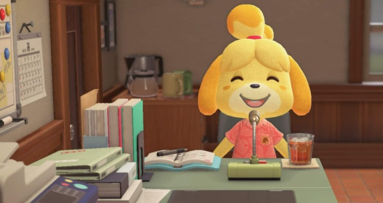 Isabelle spends most of her time in the town hall,