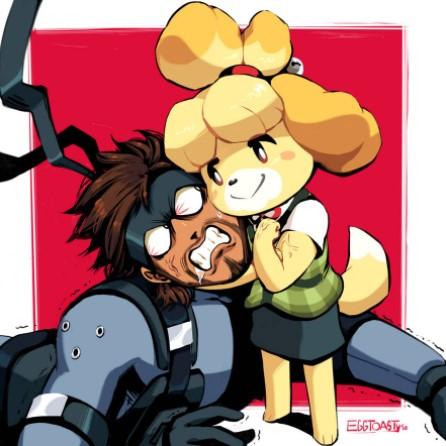 Isabelle versus Snake by EggToasty-