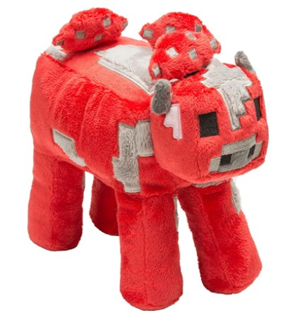 "Jinx Minecraft 9"" Mooshroom Plush Stuffed Toy 9Unboxed with Hang Tag)"