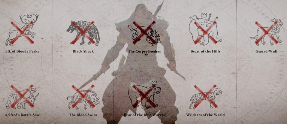Legendary Hunts AC Valhalla Rewards