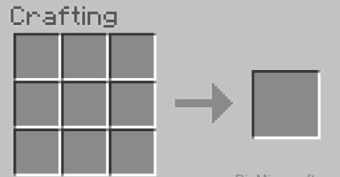 Open the Crafting menu to show the 3x3 crafting grid