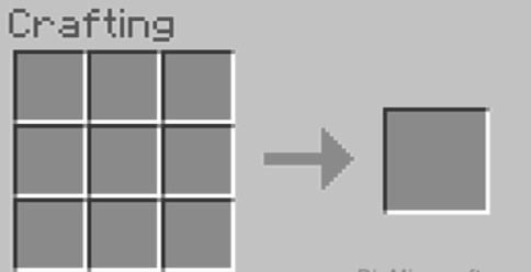 Please open up your crafting table so that you will have the 3×3 crafting grid.
