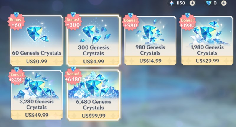 Purchase Genesis Crystal from the shop1
