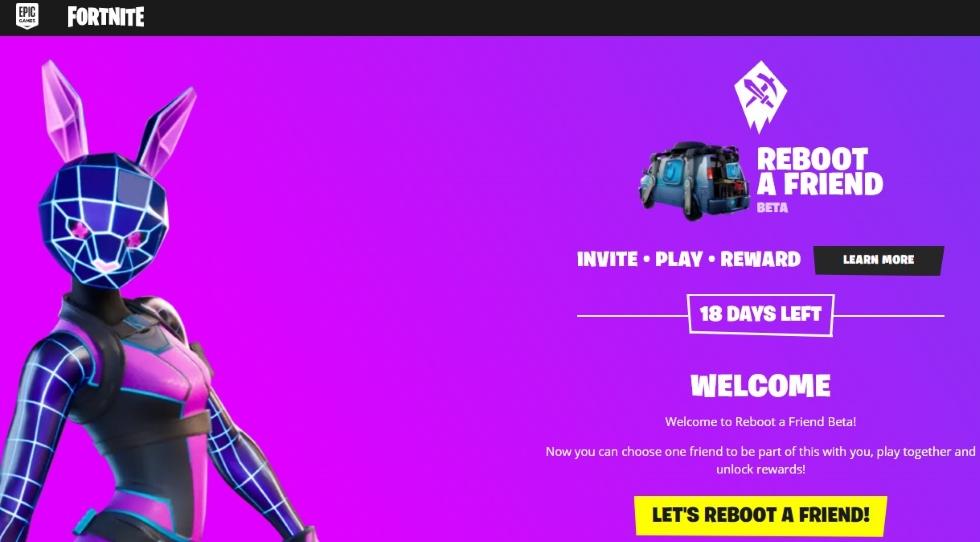 Reboot A Friend Fortnite site