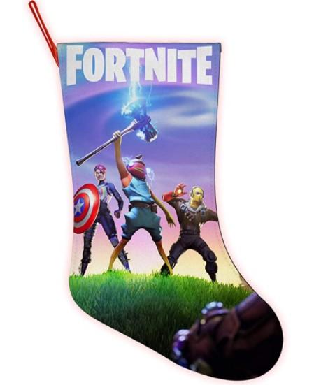 Santa Clause Fortnite e-Stocking Merry Christmas Pendant Ornament Stockings Xmas Gift Socks Candy Bag