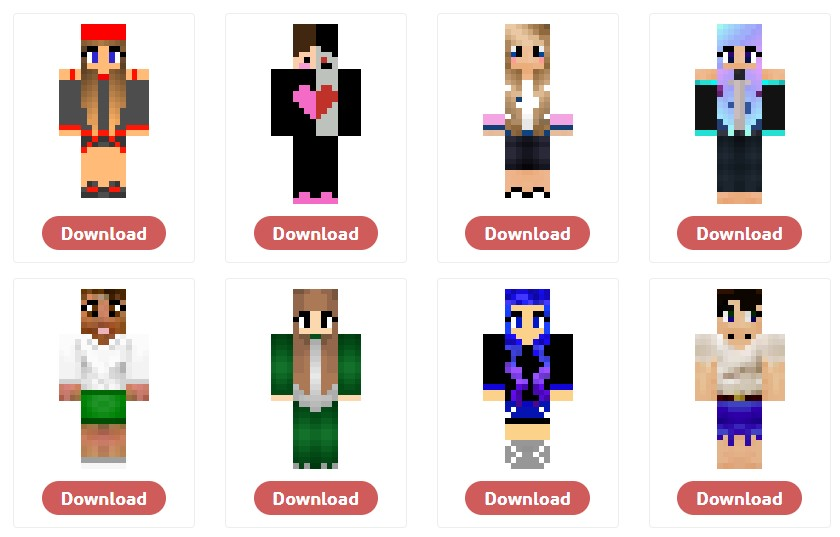 Skins Minecraft for Girls