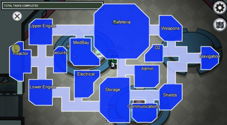 The Rooms Names in The Skeld Map1
