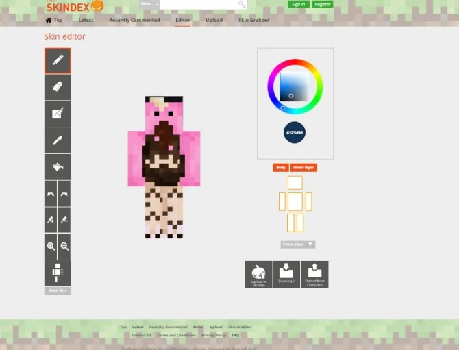 The Skindex Minecraft Skin Editor Maker Instructions