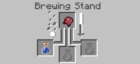 add the fermented spider eye to the top box in the Brewing Stand menu.