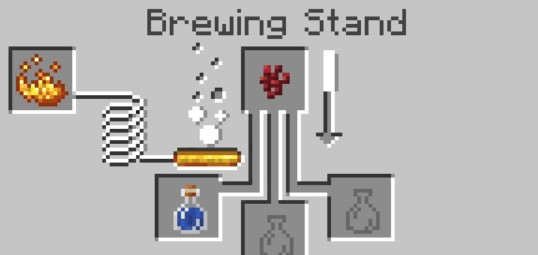add the nether wart to the top box in the Brewing Stand menu.