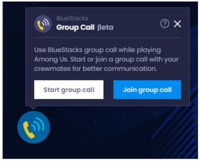 click on Join Group Call.