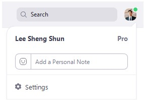 click your profile picture then click Settings.