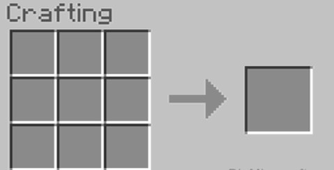 crafting table so that you will have the 3x3 crafting grid.
