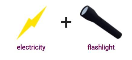 electricity + flashlight