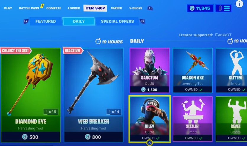 go to the Item Shop