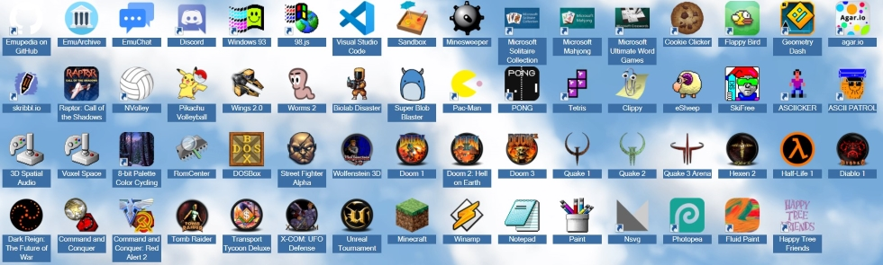 list of the games and some apps.