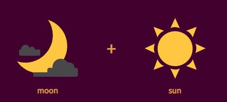 moon + sun = sky