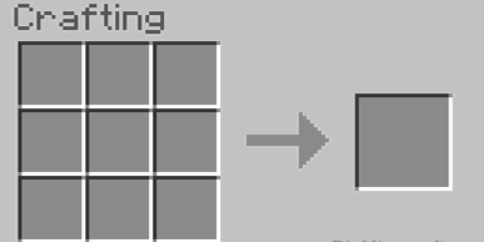 open your crafting menu so that you will have the 3x3 crafting grid