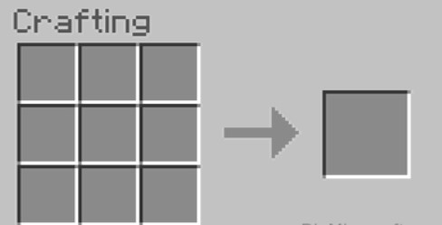 open your crafting table so you will see the 3x3 crafting grid.
