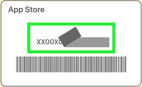peel or scratch off gently the label on the back of your gift card to find a 16-digit code which starts with X