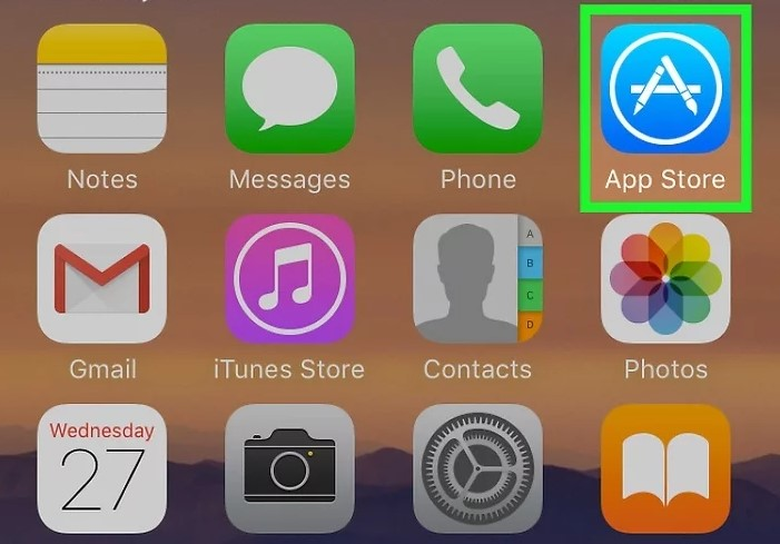 please open the App Store app