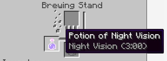 process is successfully completed, you can now see the Potion of Night Vision (3.00)
