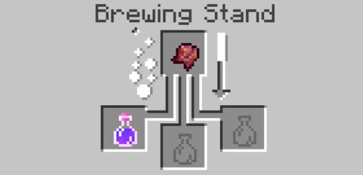 put the ingredients in the Brewing Stand menu