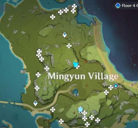 second location of Violetgrass can be found in Mingyun Village