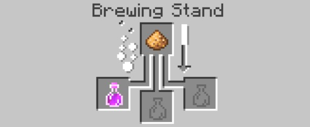 start to place the materials in the top box and then the Potion of Strength will be made in the bottom three boxes.
