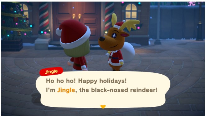 to Jingle in front of Resident Services