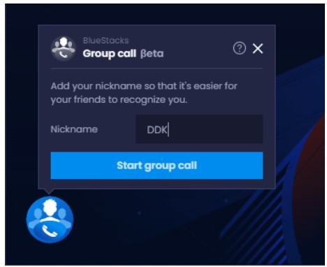 type in the group call ID which is provided by the host and your nickname
