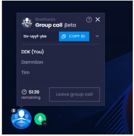 type in your nickname there and then click on Start Group Call