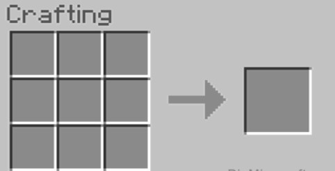will show the 3x3 crafting grid.