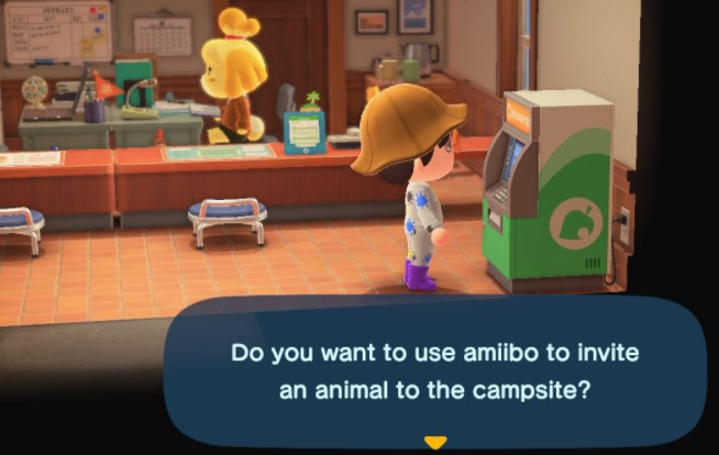 y inviting them to the campsite by using Amiibo