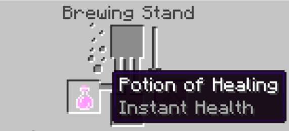 your bottle contains a Potion of Healing.