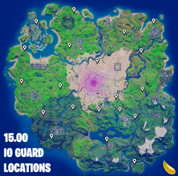 All Fortnite IO Guard Spawn Locations