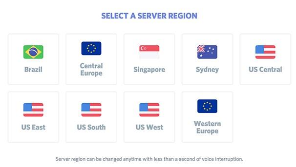 Change the server region
