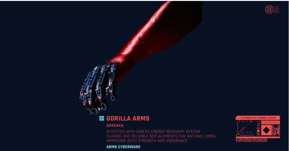 Cyberpunk 2077 Gorilla Arms Mods