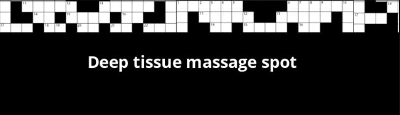 Deep Tissue Massage Spot Crossword Clue