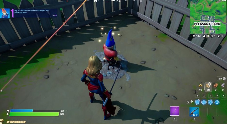 Dig up the Gnomes at Fort Crumpet and Pleasant Park