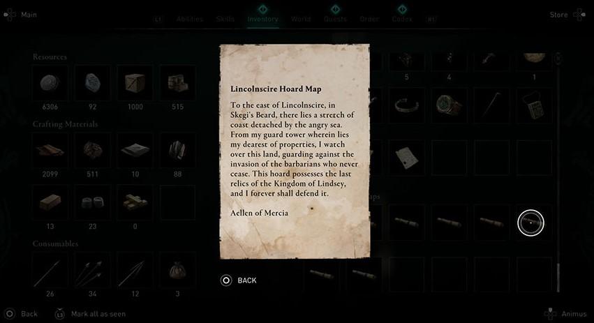 Lincolnscire Treasure Hoard map clue