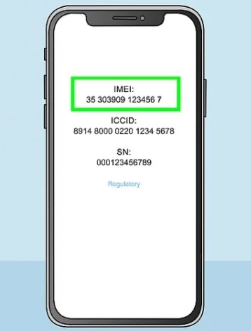 MEID or IMEI number of your phone