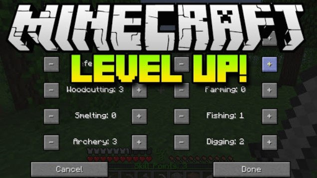Minecraft Level Up Reloaded Classes
