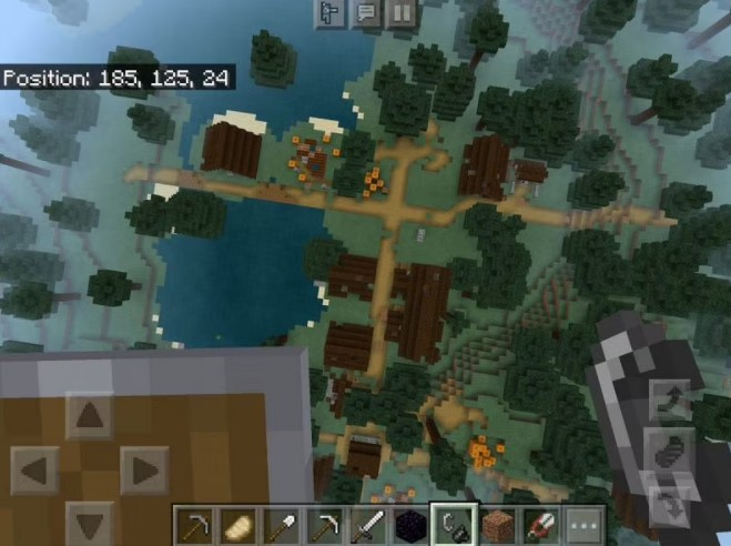 Ruined Nether Portal and Abandoned Village