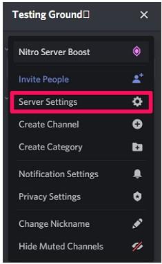 Server Settings