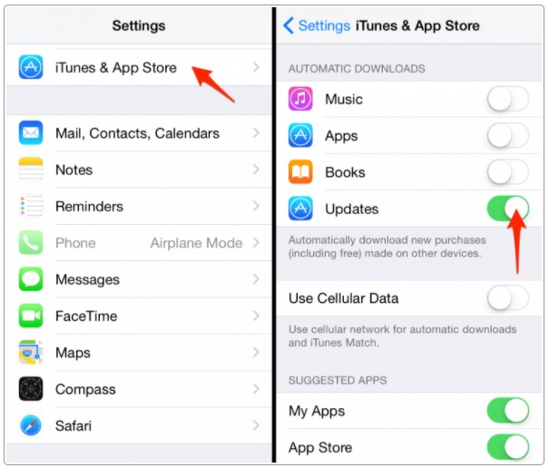 Turning Off Automatic App Updates