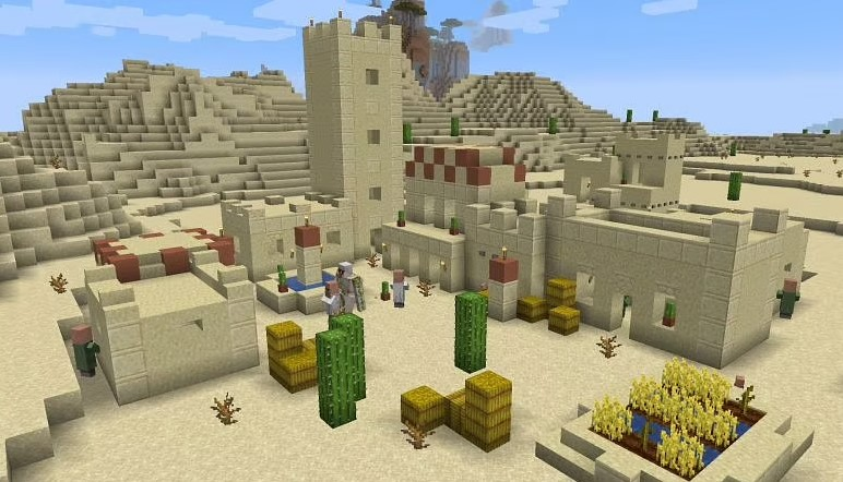 Villages and Desert Temple