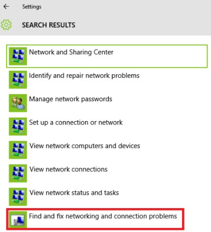find and fix networking and connection problems
