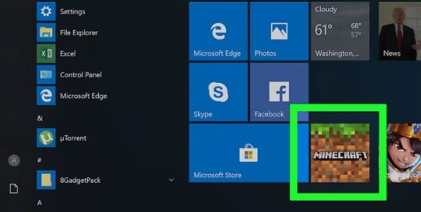 launch Minecraft on your computer