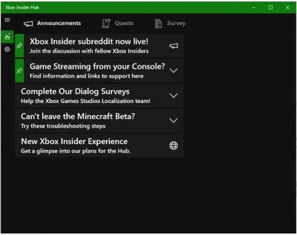 run the app called Xbox Insider Hub app